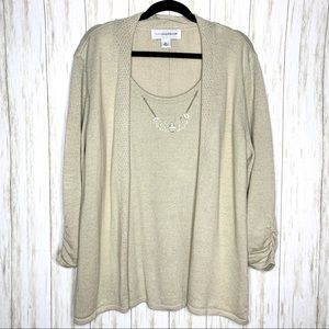 Sag Harbor top, w/attached necklace